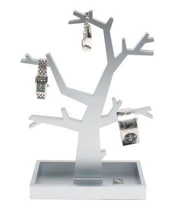 Silver Dress-Up Jewelry Tree