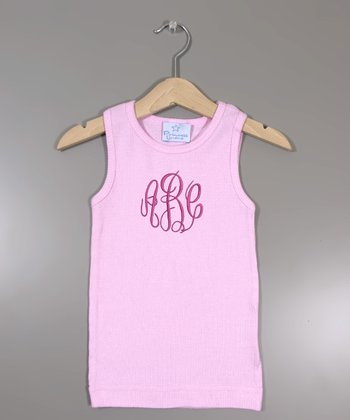 Pink Monogram Tank - Infant, Toddler & Girls
