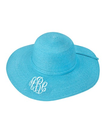 Aqua Monogram Floppy Hat