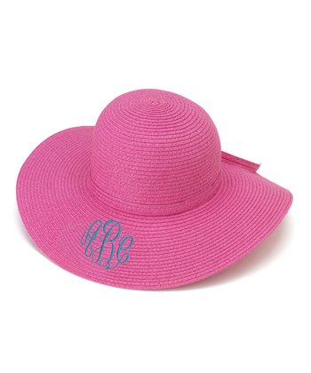 Hot Pink Monogram Floppy Hat
