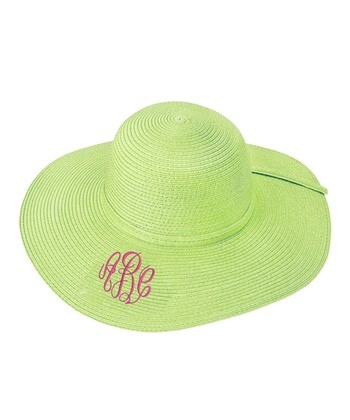Lime Monogram Floppy Hat
