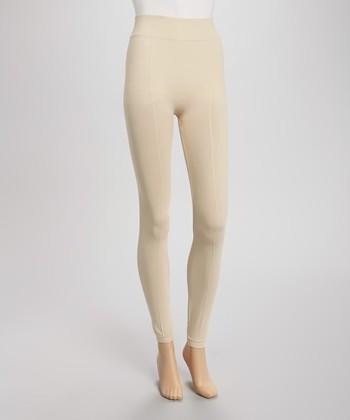 Beige Basic Leggings