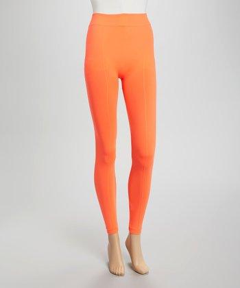 Orange Basic Leggings