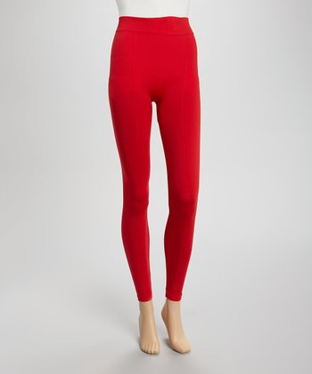 Red Seamless Leggings