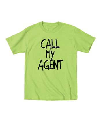 KidTeeZ Key Lime 'Call My Agent' Tee - Toddler & Kids