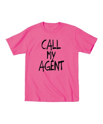 KidTeeZ Raspberry 'Call My Agent' Tee - Toddler & Girls