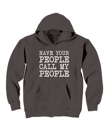 KidTeeZ Charcoal 'Have Your People' Hoodie - Toddler & Kids