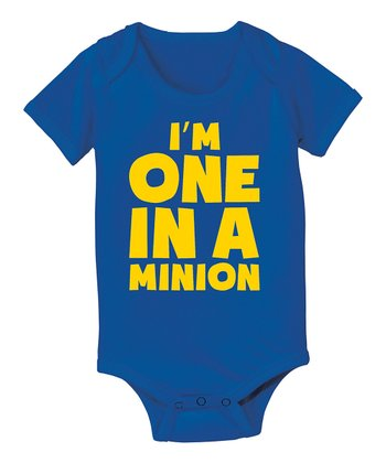 KidTeeZ Royal Blue 'I'm One in a Minion' Bodysuit - Infant