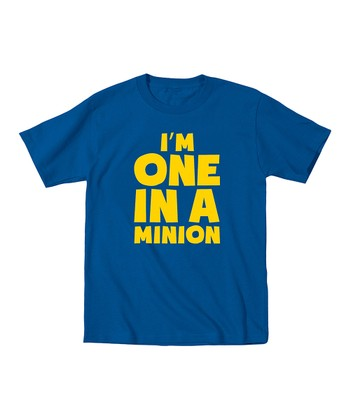 KidTeeZ Royal Blue 'I'm One in a Minion' Tee - Toddler & Boys