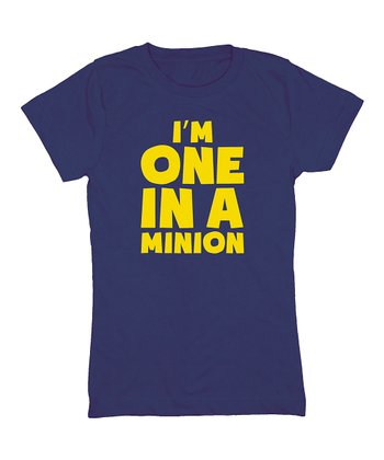 KidTeeZ Navy 'I'm One in a Minion' Fitted Tee - Girls