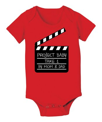 KidTeeZ Red 'Project Baby' Bodysuit - Infant