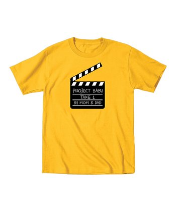 KidTeeZ Yellow 'Project Baby' Tee - Toddler