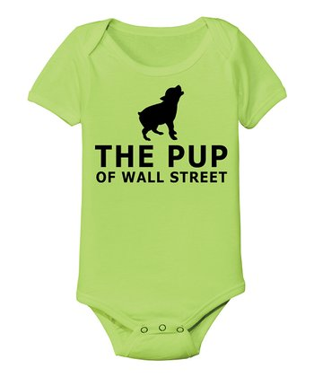 KidTeeZ Key Lime 'The Pup of Wall Street' Bodysuit - Infant