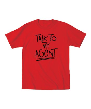KidTeeZ Red 'Talk to My Agent' Tee - Toddler & Boys