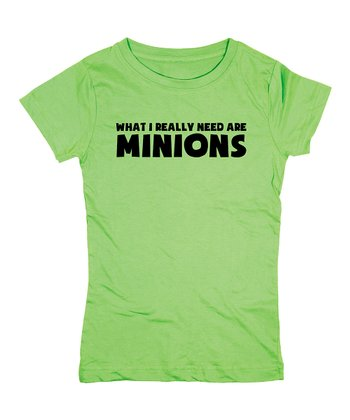 KidTeeZ Key Lime 'Minions' Fitted Tee - Girls