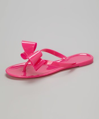 Pink Bow Jelly Sandal