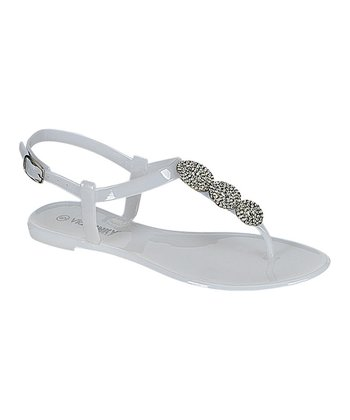 White Double Ankle-Strap Sandal