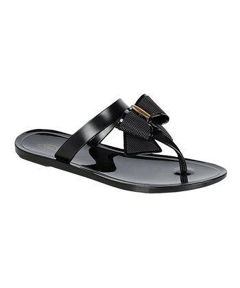 Black Bow Fun Sandal