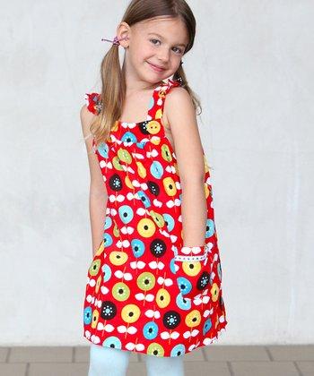 Red Annika Corduroy Jumper - Toddler & Girls