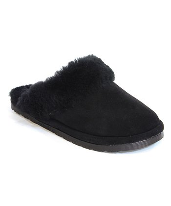 Black Sheepskin Scuff Slipper