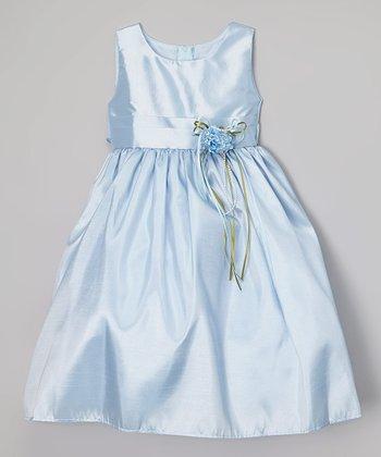 Baby Blue Satin Dress - Infant, Toddler & Girls