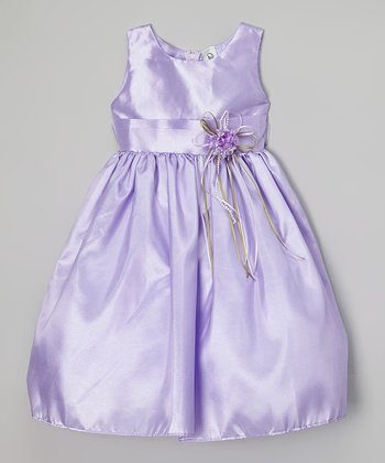 Lilac Satin Dress - Infant, Toddler & Girls