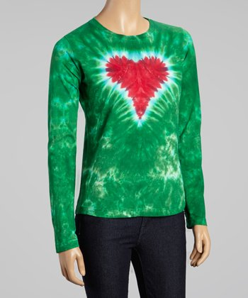 Holiday Heart Long-Sleeve Tee - Women