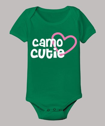 Kelly Green 'Camo Cutie' Bodysuit - Infant