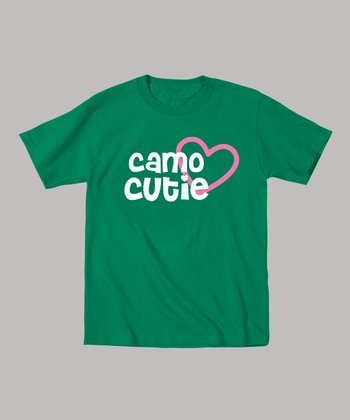 Kelly Green 'Camo Cutie' Tee - Toddler & Girls
