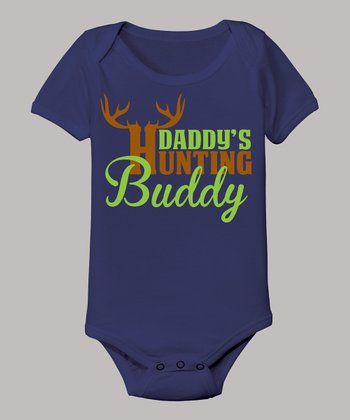 Navy 'Daddy's Hunting Buddy' Bodysuit - Infant