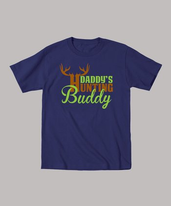 Navy 'Daddy's Hunting Buddy' Tee - Toddler & Kids