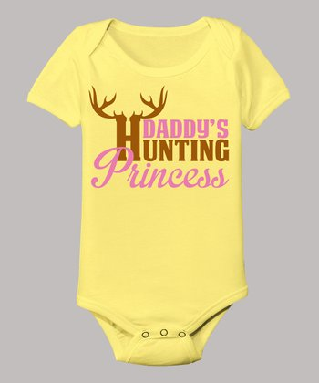 Banana 'Daddy's Hunting Princess' Bodysuit - Infant