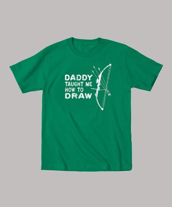 Kelly Green 'Daddy Taught Me How to Draw' Tee - Toddler & Kids