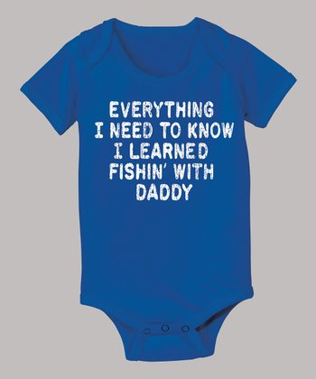 Royal Blue 'Learned Fishin' with Daddy' Bodysuit - Infant