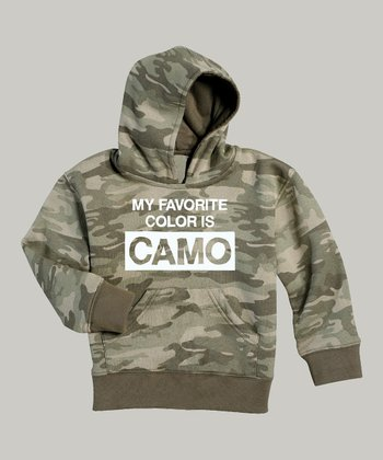 Camo 'My Favorite Color Is Camo' Hoodie - Toddler & Kids