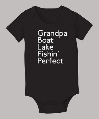 Black 'Fishin' Perfect' Bodysuit - Infant