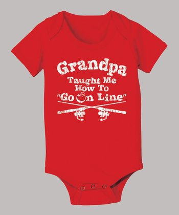 Red 'Go On Line' Bodysuit - Infant