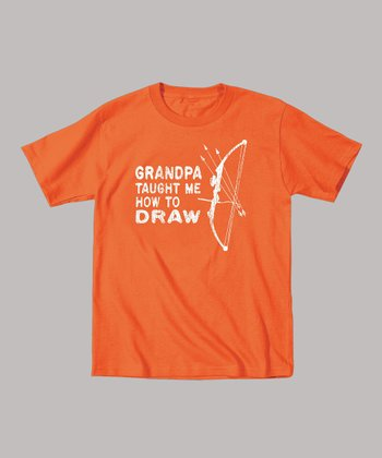 Orange 'Grandpa Taught Me How to Draw' Tee - Toddler & Kids