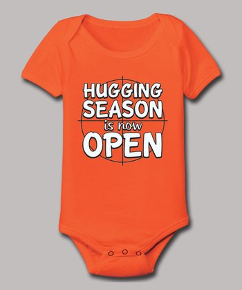 Orange 'Hugging Season Is Now Open' Bodysuit - Infant