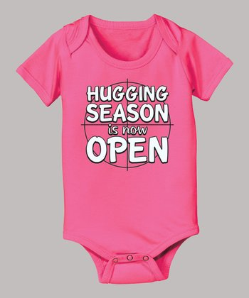 Raspberry 'Hugging Season Is Now Open' Bodysuit - Infant