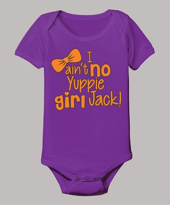 Purple 'Ain't No Yuppie Girl Jack' Bodysuit - Infant