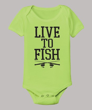 Key Lime 'Live To Fish' Bodysuit - Infant