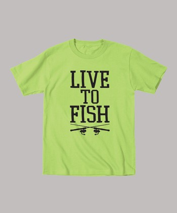 Key Lime 'Live To Fish' Tee - Toddler & Kids