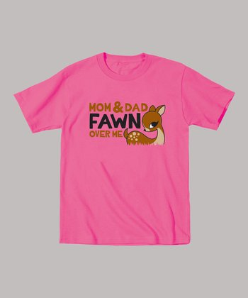 Raspberry 'Fawn Over Me' Tee - Toddler & Girls
