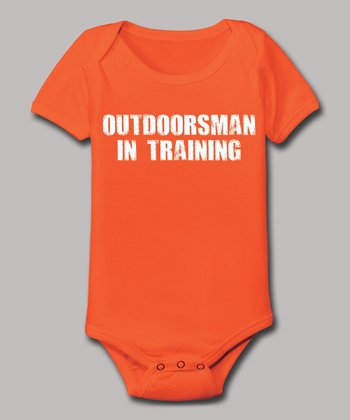 Orange 'Outdoorsman in Training' Bodysuit - Infant
