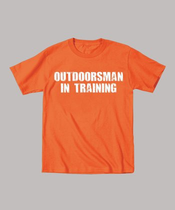 Orange 'Outdoorsman in Training' Tee - Toddler & Kids