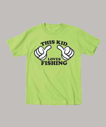 Key Lime 'This Kid Loves Fishing' Tee - Toddler & Kids