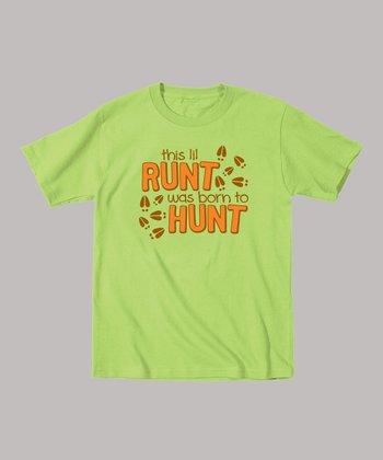 Key Lime 'This Lil Runt Was Born To Hunt' Tee - Toddler & Kids