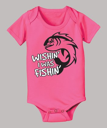 Raspberry 'Wishin' I Was Fishin'' Bodysuit - Infant