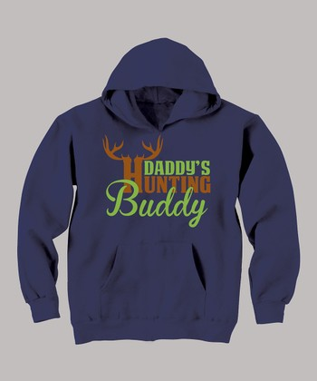 Navy 'Daddy's Hunting Buddy' Hoodie - Toddler & Boys